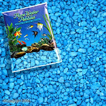 World Wide Imports Pure Water Pebbles Premium Fresh Water Substrates Neon Blue 5lb