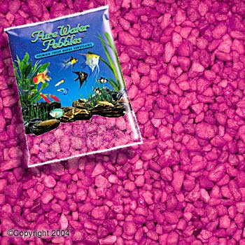 World Wide Imports Pure Water Pebbles Premium Fresh Water Substrates Neon Purple 5lb