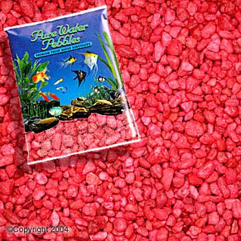 World Wide Imports Pure Water Pebbles Premium Fresh Water Substrates Neon Red 5lb