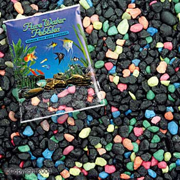 World Wide Imports Pure Water Pebbles Premium Fresh Water Substrates Black Beauty 5lb
