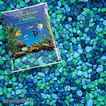 World Wide Imports Pure Water Pebbles Premium Fresh Water Substrates Blue Lagoon 5lb