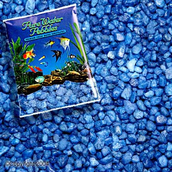 World Wide Imports Pure Water Pebbles Premium Fresh Water Substrates Marine Blue 25lb