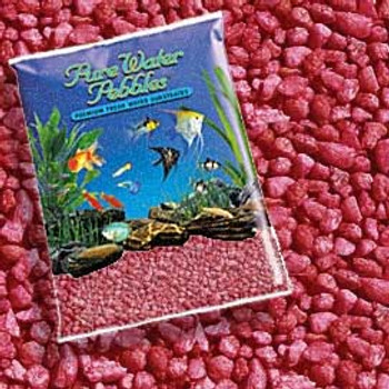 World Wide Imports Pure Water Pebbles Premium Fresh Water Substrates Currant Red 25lb