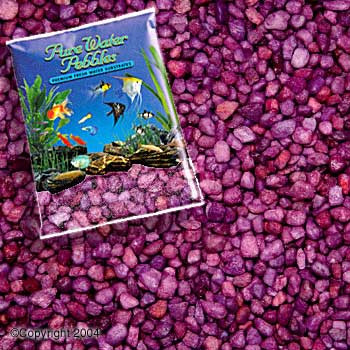 World Wide Imports Pure Water Pebbles Premium Fresh Water Substrates Burgundy 5lb