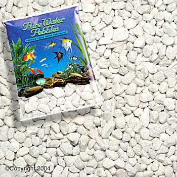 World Wide Imports Pure Water Pebbles Premium Fresh Water Substrates Snow White 5lb