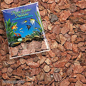 World Wide Imports Pure Water Pebbles Premium Fresh Water Substrates Cinnamon Pebbles SIX 5lb bags 30 lbs