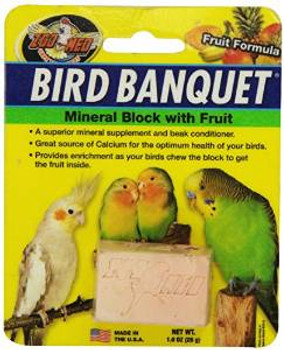 Zoo Med Bird Banquet Fruit Mineral Block Small