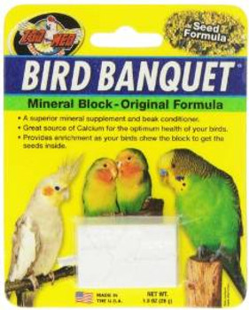 Zoo Med Bird Banquet Block Original Seed Formula Small