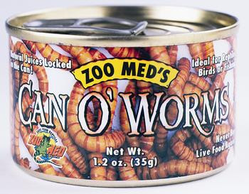 Zoo Med Can Of Worms 300/can 1.2 Oz.