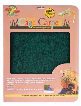 "Zoo Med Cage Carpet 10x20"" 10 Gallon"