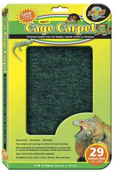 "Zoo Med Cage Carpet 12x30"" 29 Gallon"