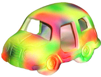 Blue Ribbon Funky Fluorescents Automobile 4.5x3x2.5in