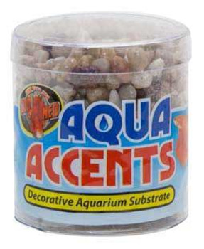 Zoo Med Aqua Accents Light River Pebbles 1/2 Lb.