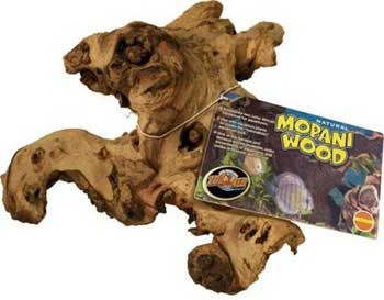 "Zoo Med Mopani Wood Small 6-8"" Aquarium Tag"