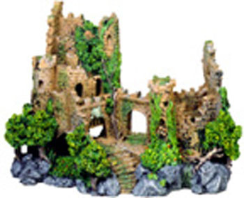 Blue Ribbon Exotic Environments Forgotten Ruins Crumbling Castle 3.25 By 2.5 By 4in