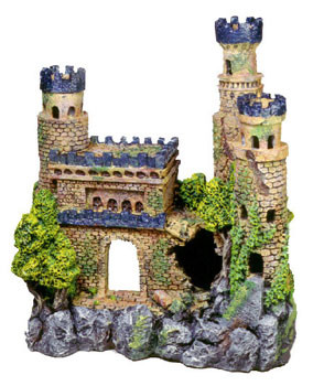 Blue Ribbon Exotic Environments Medieval Castle With Tall Towers 4x2.25x4in