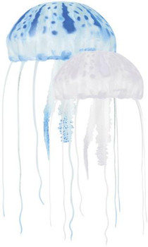 Aquatop Floating Jellyfish Decor 2pk - Blue/Clear