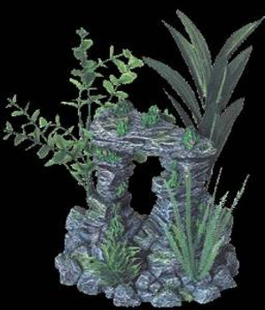 Blue Ribbon Exotic Environments Rock Arch With Plants 6x5x7.5in