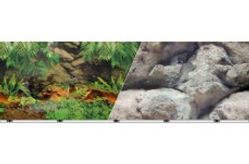 Blue Ribbon Vibran-sea Double Sided Background Rainforest And Freshwater 12x50ft