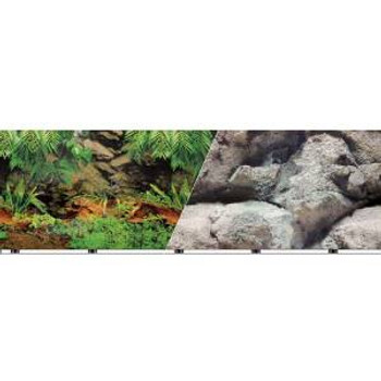 Blue Ribbon Vibran-sea Double Sided Background Rainforest And Freshwater 19x50ft