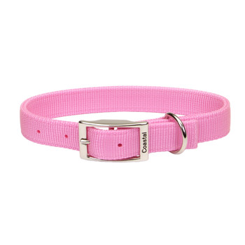 Coastal Double-ply Nylon Collar Bright Pink 1x18in
