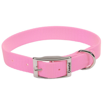 Coastal Single-ply Nylon Collar Bright Pink 1x18in