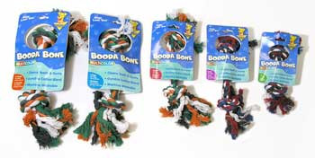 Aspen Pet Booda 2-knot Rope Bone Extra Small Multicolor