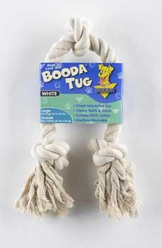 Aspen Pet White Booda - 3-knot Rope Tug - Large