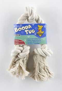 Rope Bone 3 Knot Tug White Medium