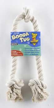 Aspen Pet White Booda - 3-knot Rope Tug - Extra Large
