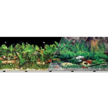 Blue Ribbon Vibran-sea Double Sided Background Black & Freshwater Tropical 12x50ft