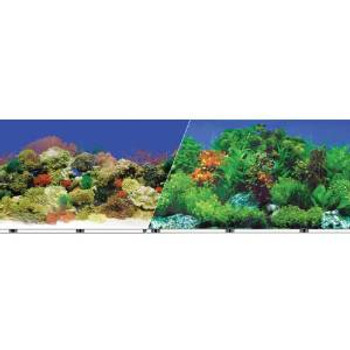 Blue Ribbon Vibran-sea Double Sided Background Freshwater Garden & Reef 12x50ft