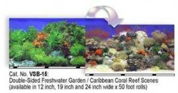 Blue Ribbon Vibran-sea Double Sided Background Freshwater Garden & Reef 19x50ft