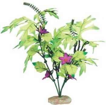 Blue Ribbon Colorburst Florals Melon Leaf Cluster With Flowering Buds 7-8in