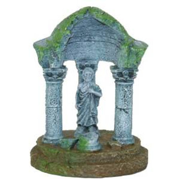 Blue Ribbon Exotic Environments Aqua Critter's Ii Statue Temple 2x2x2.5in