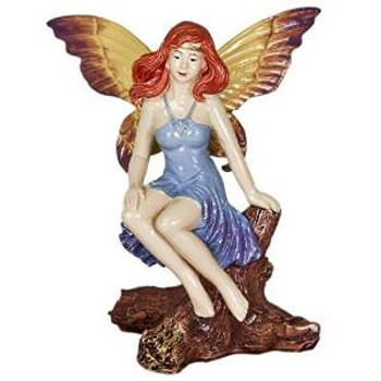 Blue Ribbon Exotic Environments Mystical Fairy On Log 4.5in