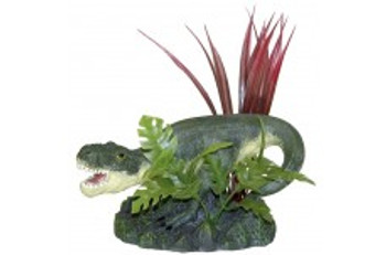 Blue Ribbon Exotic Environments T-rex With Plants