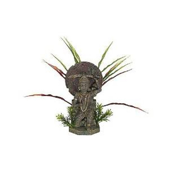 Blue Ribbon Exotic Environments Buddha Warrior With Plants Large