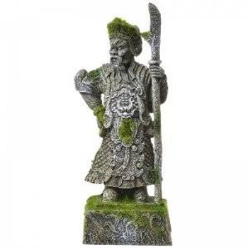 Blue Ribbon Exotic Environments Thai Warrior Statue With Moss