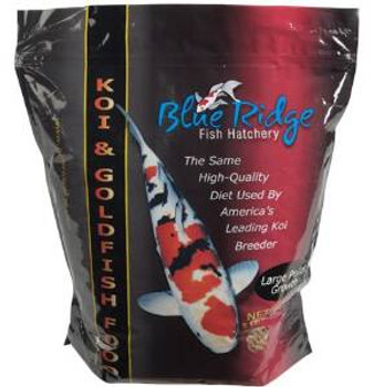 Blue Ridge Fish Hatchery Koi And Goldfish Food Large Pellet Growth 3/16in 2lb