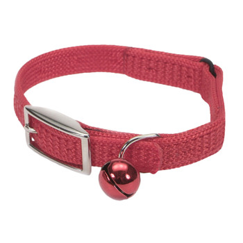 Coastal Sassy Snag-proof Nylon Safety Cat Collar Red 3/8x12in