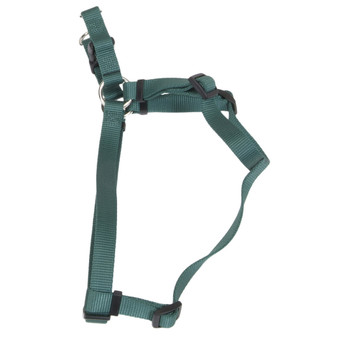 Coastal Comfort Wrap Adjustable Nylon Harness Hunter Green 3/8x12-18in Girth