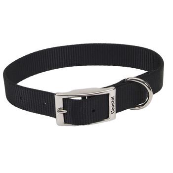 Coastal Single-ply Nylon Collar Black 1x18in
