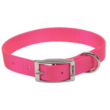 Coastal Single-ply Nylon Collar Neon Pink 1x18in