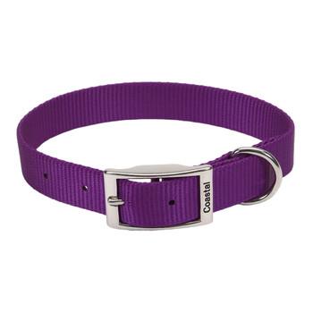 Coastal Single-ply Nylon Collar Purple 1x18in