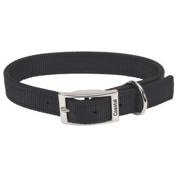 Coastal Double-ply Nylon Collar Black 1x18in