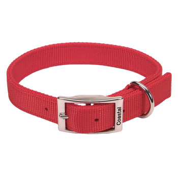 Coastal Double-ply Nylon Collar Red 1x18in