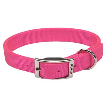 Coastal Double-ply Nylon Collar Neon Pink 1x22in