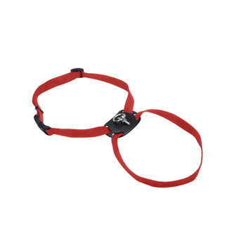 Coastal Size Right Adjustable Nylon Harness Red 1x26-38in