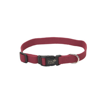 Coastal New Earth Soy Adjustable Collar Cranberry 3/4x12-18in